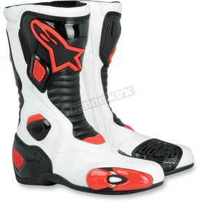Alpinestars White/Black/Red S-MX 5 Boots - 222309-213-36