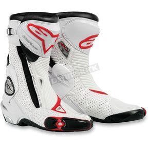 Alpinestars Black/White/Red SMX Plus Boots - 2221013-128-41