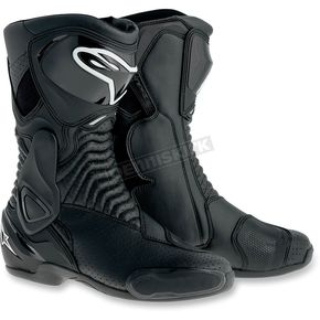 Alpinestars Black Vented SMX 6 Boots - 2223014-100-39
