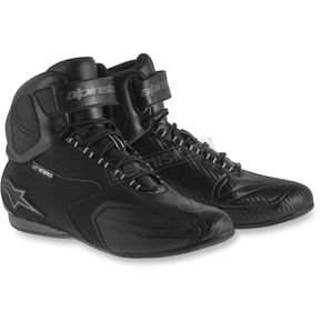 Alpinestars Black/Gray Faster Waterproof Shoes - 2540215110114