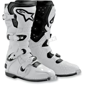 Alpinestars White Tech 8 Light Boots - 2011011-200-10