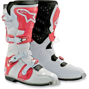Alpinestars White/Red Tech 8 Light Boots - 201101