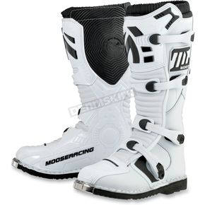 Moose Youth White M1.2 Boots - 3411-0273
