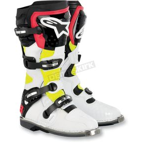 Alpinestars White/Yellow/Red Vented Tech 8 Light Boots - 20110112535