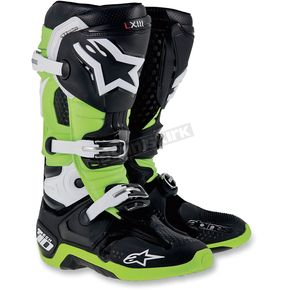 Alpinestars Black/Green Tech 10 Boots - 20100141611