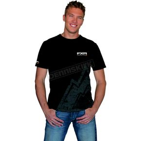 FXR Racing Black Eroded Mountain T-Shirt - 1615