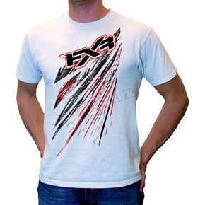 FXR Racing White Shredder T-Shirt - 2618