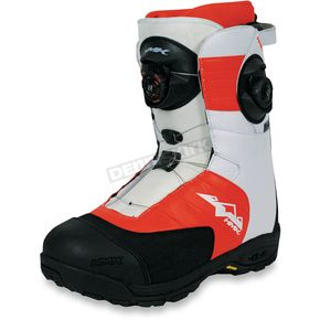 HMK White/Orange Team Focus Boots - HM913TDUALO