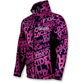 FXR Racing Womens Fuchsia/Black Grind Swift Tri-Laminate Hoody - 2922