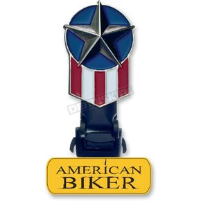 Biker Boot Strap Replacement Starflag Clip  - BBS-ABC