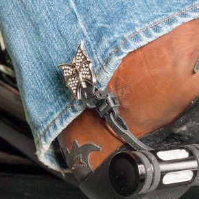 Biker Boot Strap 6 in. Butterfly Boot Straps - BBS-IB6