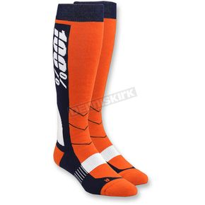 100% Orange Hi Side MX Socks - 24008-006-18