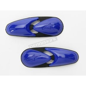 Alpinestars Replacement Flexible Blue Toe Sliders  - 25SLITECH-BL