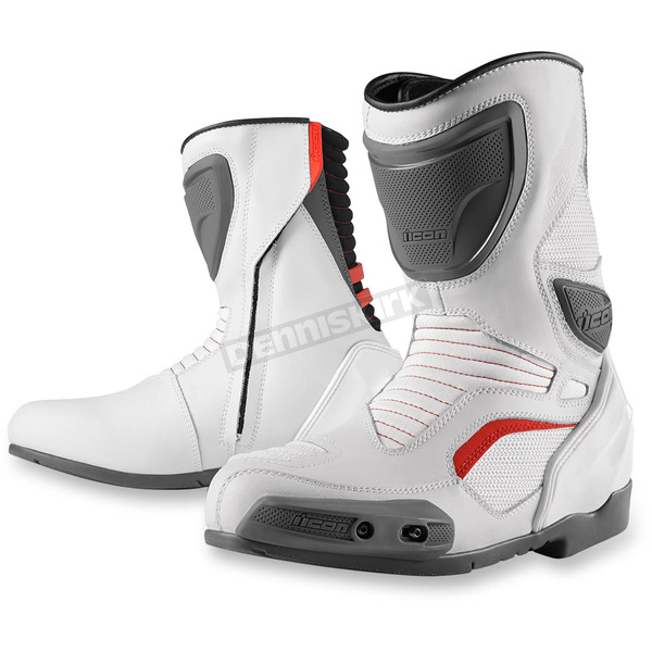 Icon White Overlord Boots - 3403-0608