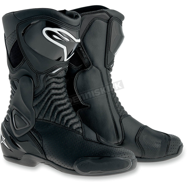 Alpinestars Black Vented SMX 6 Boots - 2223014-100-37
