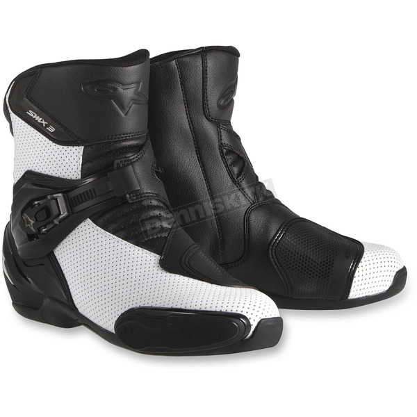 Alpinestars Black/White SMX-3 Vented Boots - 222401412249