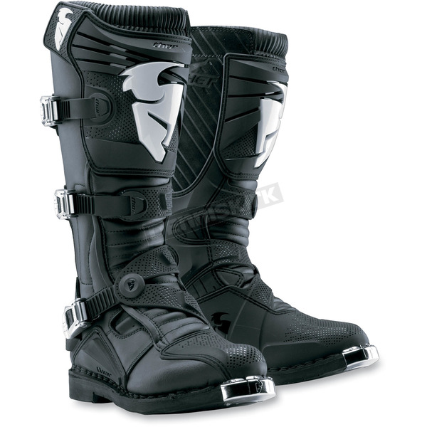Thor Black Ratchet Boots - 3410-0743