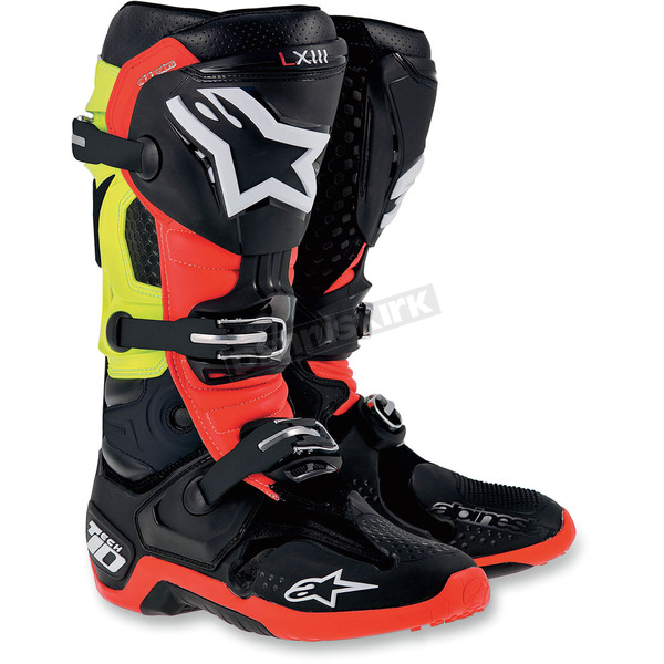 Alpinestars Black/Red/Yellow Tech 10 Boots - 201001413611