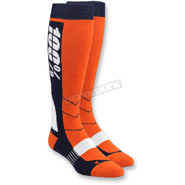 100% Orange Hi Side MX Socks - 24008-006-17