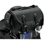 Rivet Extra-Large Traveler Bike Rack Bag w/Fringe - 3002RCF