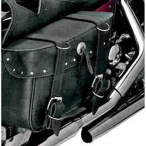 All American Rider Rivet Box Style Slant Saddlebags - 9056RVT