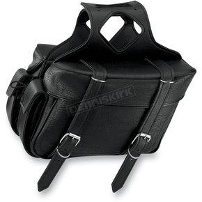 All American Rider Plain Box Style Slant Saddlebags - 9066P
