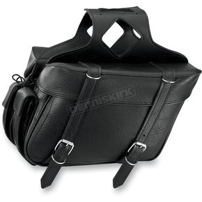 All American Rider Plain Box Style Slant Saddlebags - 9086P