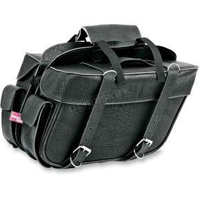 All American Rider Plain Extra-Large Box-Style Detachable Slant Saddlebags - 9698P