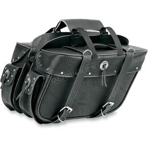 All American Rider Rivet Extra-Large Box-Style Detachable Slant Saddlebags - 9698RP