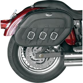 Saddlemen Drifter S4 Rigid-Mount Quick-Disconnect Saddlebags w/Integrated LED Marker Lights - 3501-0232-LEB