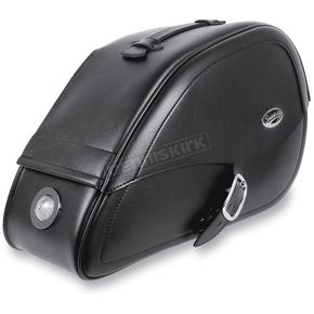 Saddlemen Drifter Rigid-Mount Teardrop Saddlebags w/Integrated LED Marker Lights - 3501-0463-LEB