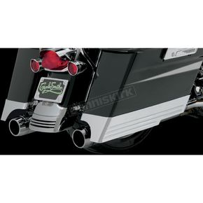CycleSmiths Chrome Billet Saddlebag Extensions w/Cutouts for Dual Exhausts - CS200