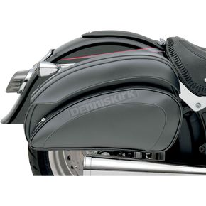 Saddlemen Cruis'n Deluxe Saddlebag Set w/Chrome Saddlebag Supports - 3501-0718