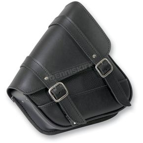 Willie & Max Black Dual Shock Swingarm Saddlebag w/Chrome Buckles - 59778-00