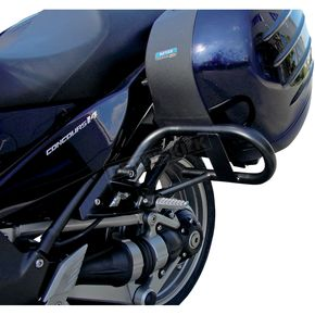 MC Enterprises Gloss Black Side Saddlebag Guards - 1400-300P