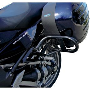 MC Enterprises Gloss Black Side Saddlebag Guards - 1400-310P