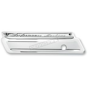Performance Machine Chrome Smooth Saddlebag Latch Covers - 0200-2000-CH