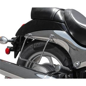 MC Enterprises Chrome Custom Saddlebag Guards - 140-27