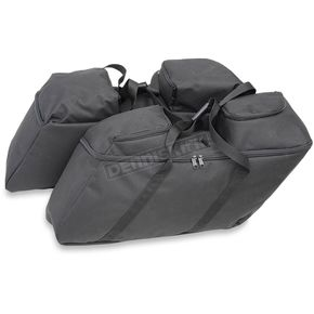Drag Specialties Black Collapsible Soft Luggage for HD Hard Saddlebags - 3501-0942