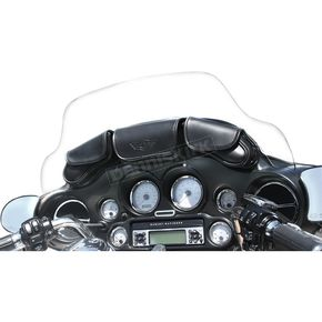 T-Bags Black 3-Pocket Windshield Bag - 105087