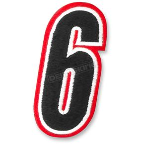 American Kargo Red/Black 5 in. Number 6 Patch - 3550-0207