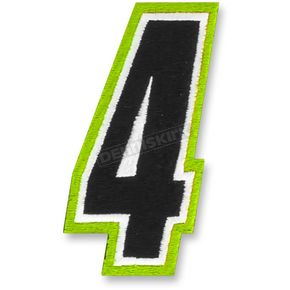 American Kargo Hi Vis/Black 5 in. Number 4 Patch - 3550-0215