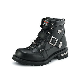 Milwaukee Motorcycle Clothing Co. Mens Road Captain Leather Boots - EEE Width - MB43357