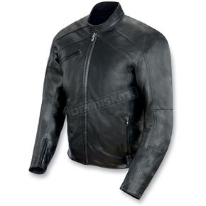 Power-Trip Graphite Leather Jacket - 1031-0003