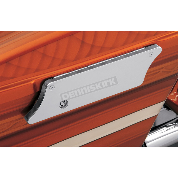 Klock Werks WFB Chrome Smooth Saddlebags Latch Covers - 3501-0347