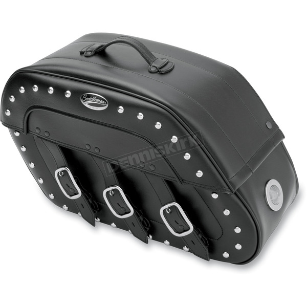 Saddlemen Desperado S4 Rigid-Mount Specific-Fit Quick-Disconnect Saddlebags w/Integrated LED Auxiliary Lights - 3501-0394-LES