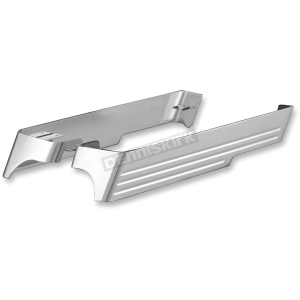 CycleSmiths Chrome Billet Saddlebag Extensions w/Cutout for Vance & Hines Monster Oval Mufflers - 200-M
