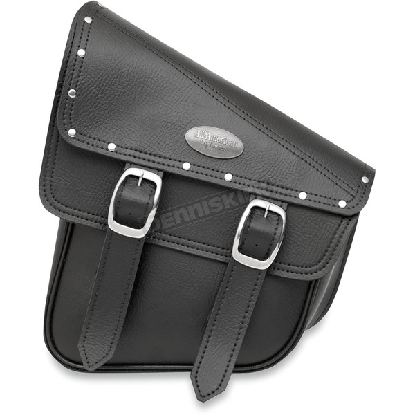 All American Rider Black RuffHyde Swingarm Storage Bag with Twin Buckles and Accent Studs - 947RVT-C