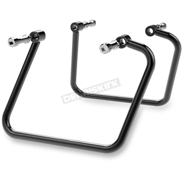 Khrome Werks High Gloss Black Powder-Coated Steel Saddlebag Supports - 110890