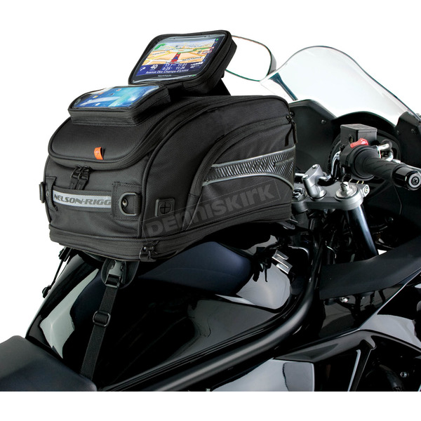 Nelson-Rigg Black GPS Sport Tank Bag w/Strap Mounts  - CL-2020-ST